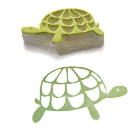 Slow and Steady Turtle Stamp - Rubber Stamp - Cling Rubber Stamp on Etsy, $10.10 AUD