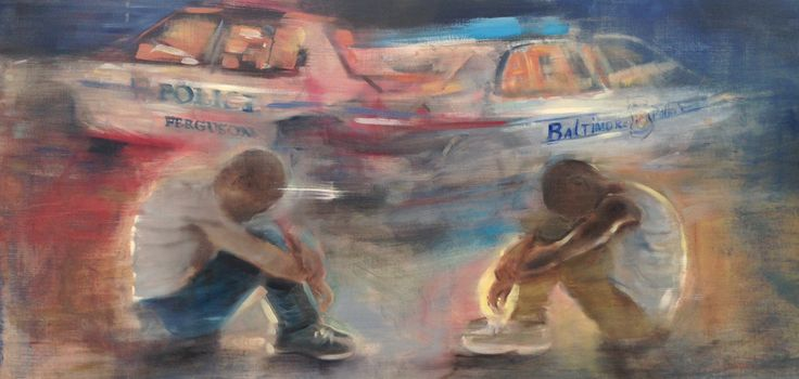 "https://flic.kr/p/yZAEqd | Kids Who Die (Ferguson to Baltimore) | Gregg Chadwick 24""x48"" oil on linen 2015 Inspired by the Poetry of Langston Hughes and the #BlackLivesMatter Movement"