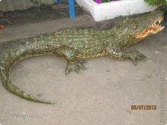 Садовый крокодил своими руками. Мастер-класс   Домохозяйка