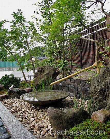 Tsakubai  японский сад на даче фото (2)