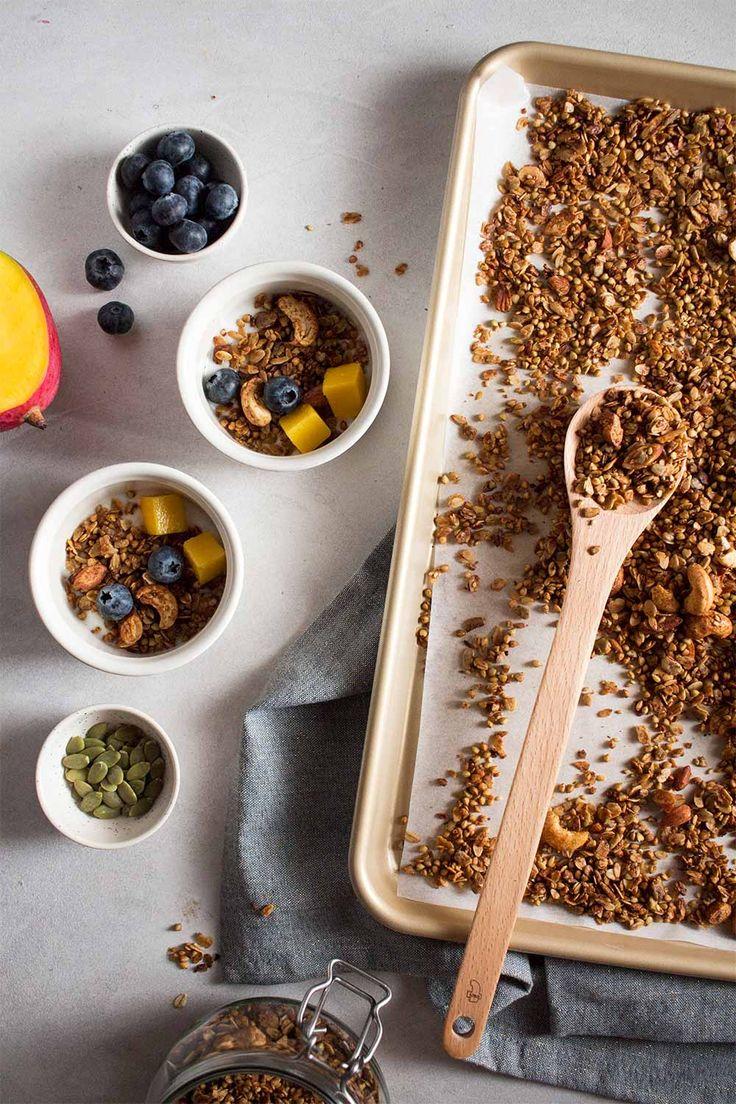 Granola sin gluten – Blog de Cucute Tostadas, Granola Sin Gluten, Yummy Yummy, Breakfast, Blog, Certificate, Oven Recipes, Rolled Oats, Coconut Oil