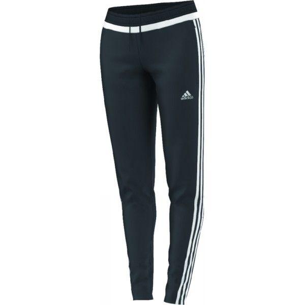 adidas Women's Tiro 15 Soccer Training Pants Grey/White/Dark Shale