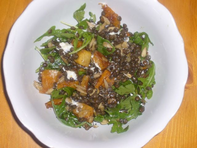 Lentil, Squash, & Goat Cheese Salad | Salads | Pinterest | Goat Cheese ...