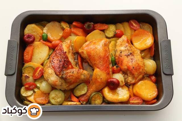 صينية الدجاج بالخضار بالصور من Hanan Khufash Recipe Food Chicken Meat