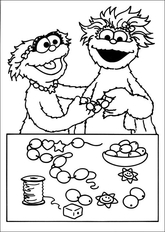 sesame street coloring pages for kids 59