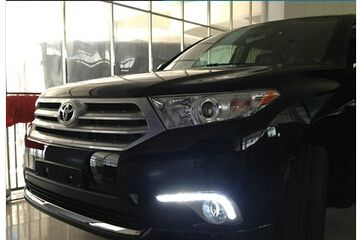 204.58$  Watch now - http://aiqo1.worlditems.win/all/product.php?id=32757959880 - Car Styling for Toyota Highlander DRL Highlander LED Daytime Running Light 2012-2014 12-led drving fog lamp cover LED lights