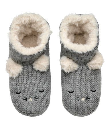 Soft slippers | Grey | KIDS | H&M IS