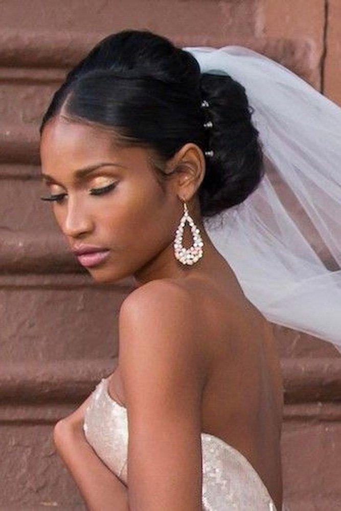 Feminine Wedding Hairstyles For Black Women Black Wedding