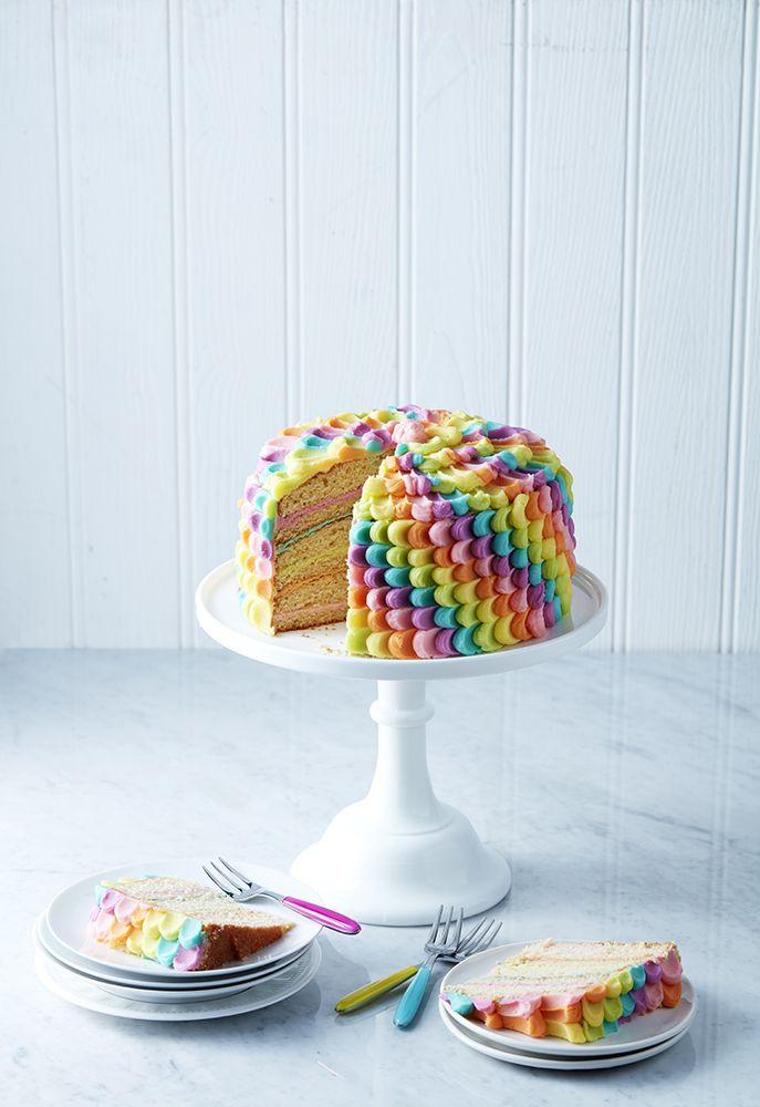 Rainbow Petal Cake Photo: Danielle Wood Mima Sinclair