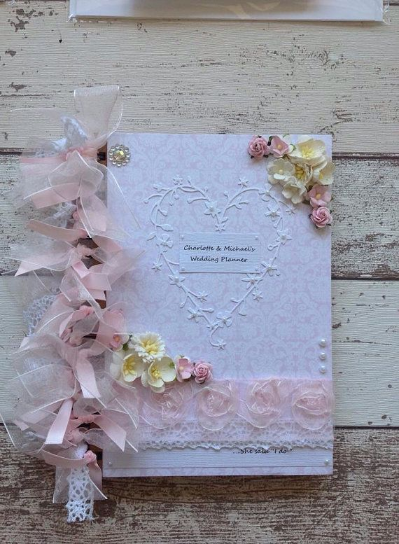 Beautiful HANDCRAFTED wedding planner book by xHeavenlyCraftsx