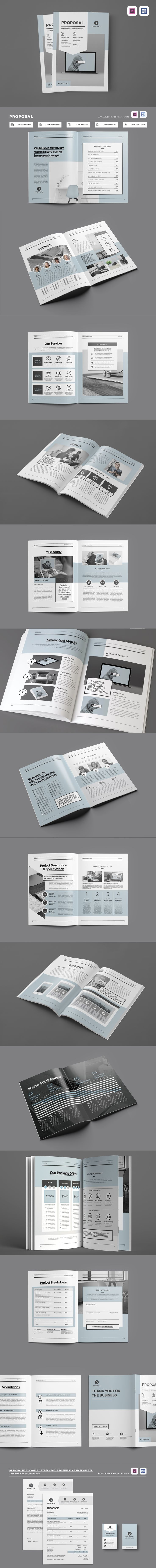 Clean u0026 Professional Proposal Template With Include
