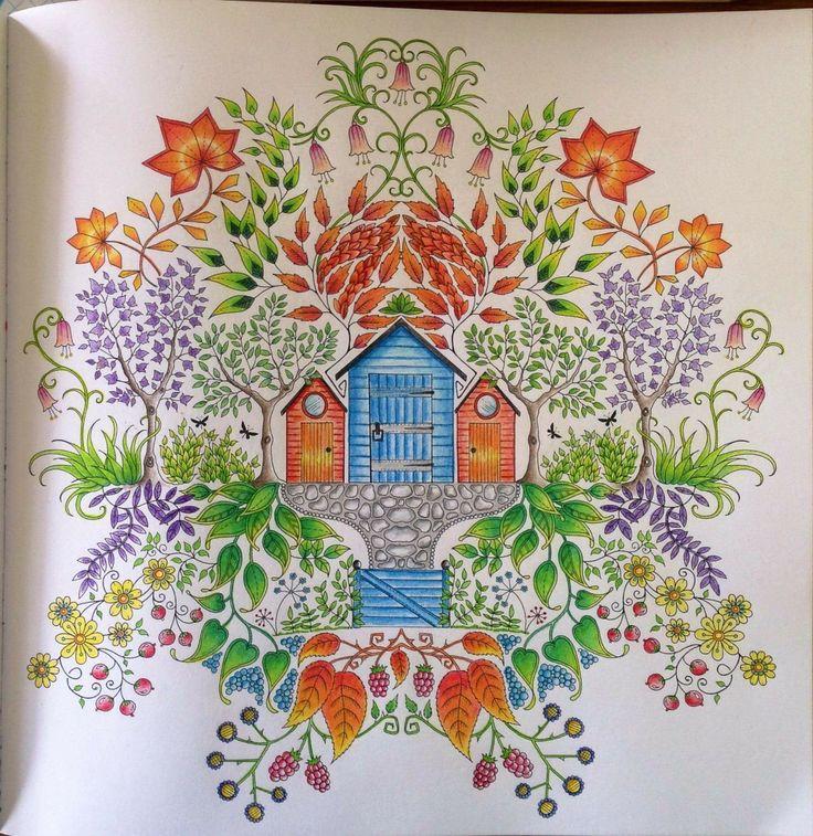 Secret Garden Casinha Jardim Secreto Johanna Basford ShedsColoring BooksSecret