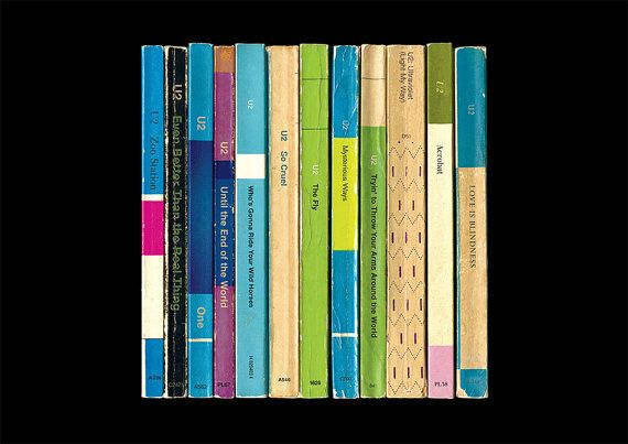 U2 'Achtung Baby' Album As Penguin Books Poster Print Literary Print on Etsy, $25.37