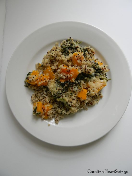 Quinoa and Butternut Squash Casserole