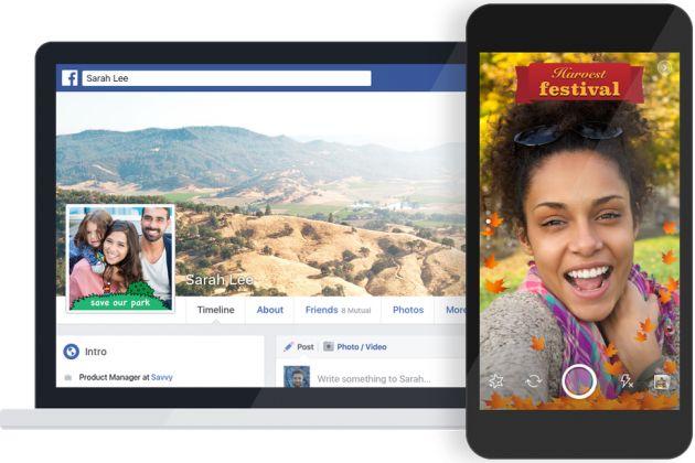 Facebook permette di creare e condividere cornici personalizzate
