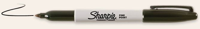 I know you are thinking, Sharpie?  Really?  Who doesn't love a Sharpie, especially a brand new one.  They are the best!!