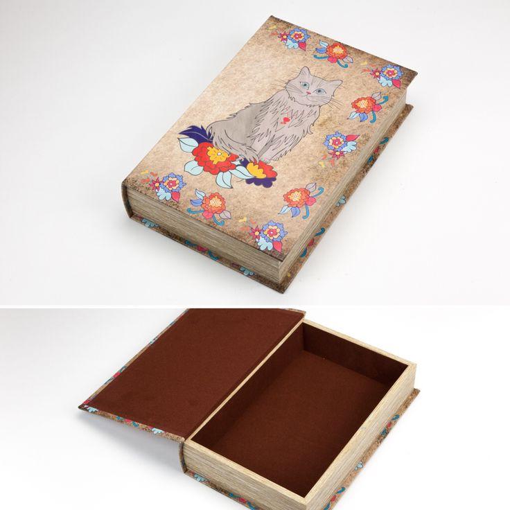 Caixa Livro Her Majesty TheCat 33 x 22 x 7 cm | A Loja do Gato Preto | #alojadogatopreto | #shoponline | referência 70067178