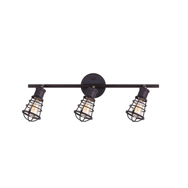 This 3-Light Full Track Lighting Kit comes in modern finish and it's cage design is perfect for people looking for industrial or loft style lighting. This track also comes with the Easy Connect push in connection system giving homeowners freedom to change fixtures with a safe and secure installation.