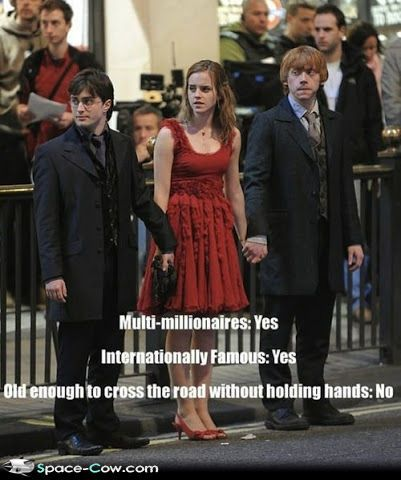 Funny celebrities Harry Potter picture