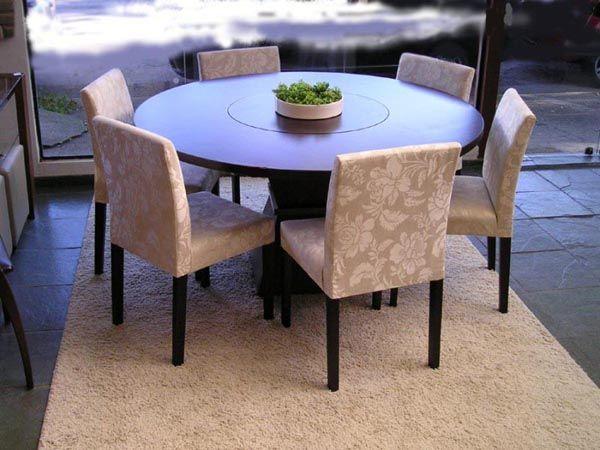 mesa de jantar redonda 6 lugares 4
