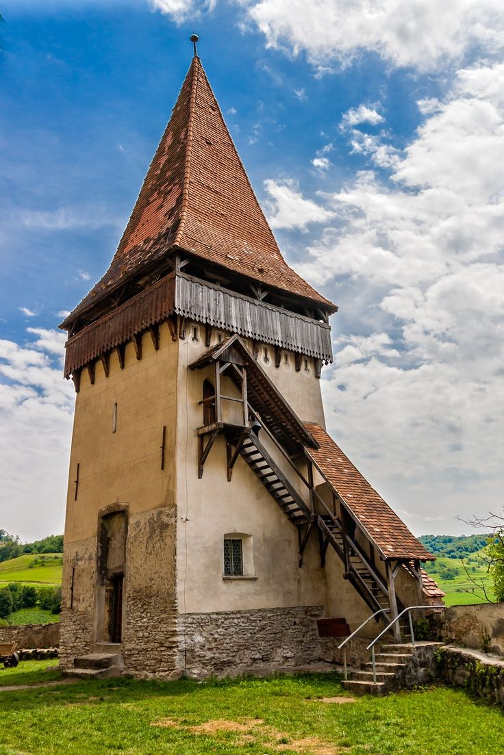 This is a defense tower inside the fortified church in Biertan, Romania, was built between 15-16 century.