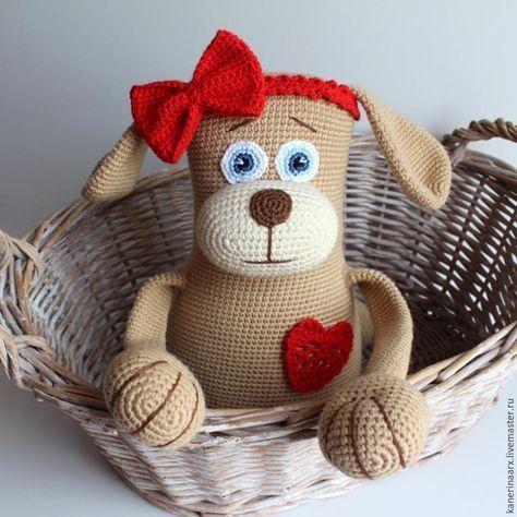 Вяжем милую собачку - Ярмарка Мастеров - ручная работа, handmade