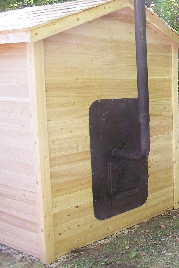 Sauna Red Cedar Classic Exterieur Tailles Disponibles 152 X
