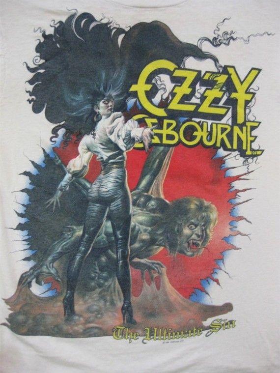 Vintage OZZY OSBOURNE 1986 TOUR T SHIRT concert tee ((( ORIGINAL )))