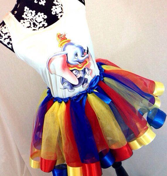 Dumbo/Circus Theme Costume for RunDisney Race - Adult Dumbo Tutu and Moisture Wicking Tank by TreasuredTutu, $85.00
