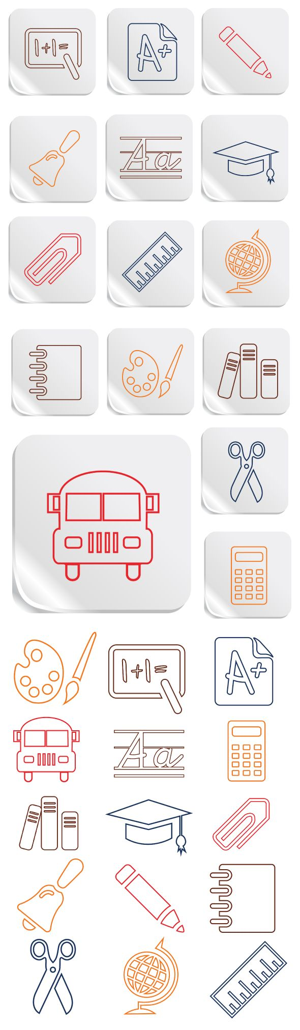 Education and School Vector Icons Set on Behance