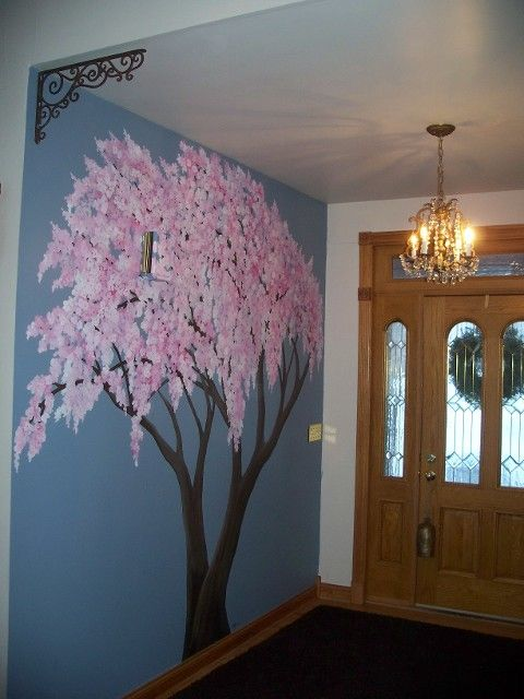 17 best images about ella 39 s room on pinterest cloud for Cherry blossom tree mural