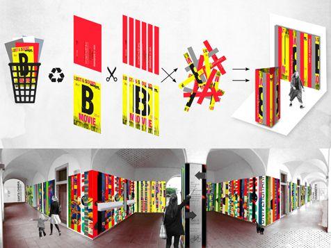 BFA | CSCSC installation #architecture #installation #art #design #contemporary #modern #mountains #colors #color #collage #reuse #wastematerials #dibond #flexibility
