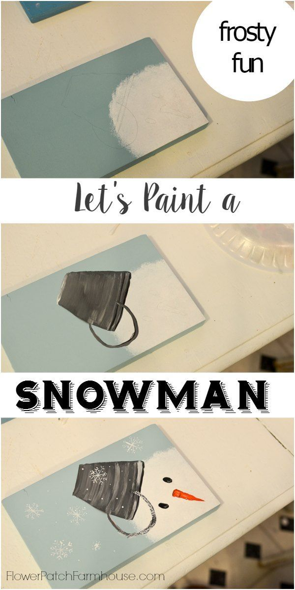 Let's Paint a Snowman, so fun and easy! Paint up a family of snow friends and enjoy their delightful touch to your winter decor. Even the kids can do this. Make some as gifts, great for coasters or mini canvases. Come paint with me @ http://FlowerPatchFarmhouse.com