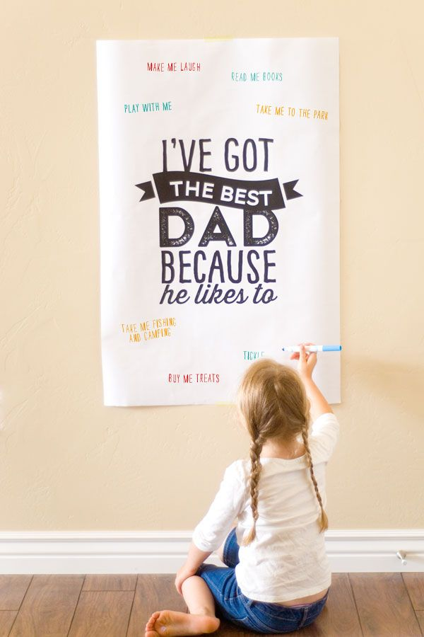 FREE printable Father's Day poster (- cute idea to do with kids ^^)