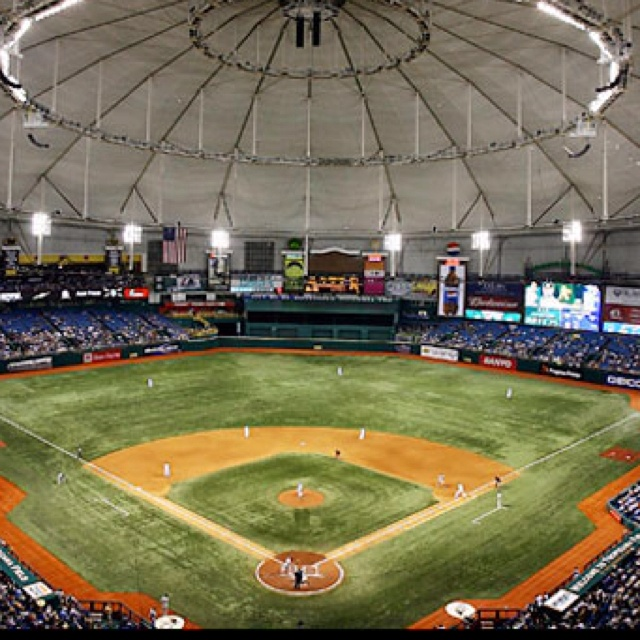 Tropicana Field, St. Petersburg, Florida - The Tampa Bay Rays Baseball team plays home games here.