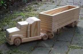 Camión de juguete de madera por MyFathersHandsLLC en Etsy