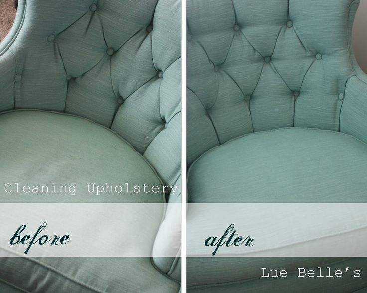 "Lue Belle's - cleaning upholstery. ""First vacuum in all different directions. Sprinkle baking soda to add a little extra  oomph. Then whip 2 cup warm water to 1/4 cup blue dawn for 2 min to get a foam. Blot foam on the fabric and blot back off after a few minutes with a clean damp cloth. Rinse cloth off a few times when it gets dingy.  I used a little extra foam and a soft bristled toothbrush on the worst spots."