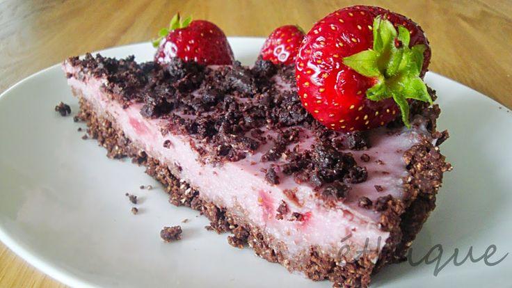 Nepečený jahodový koláč - Ethique