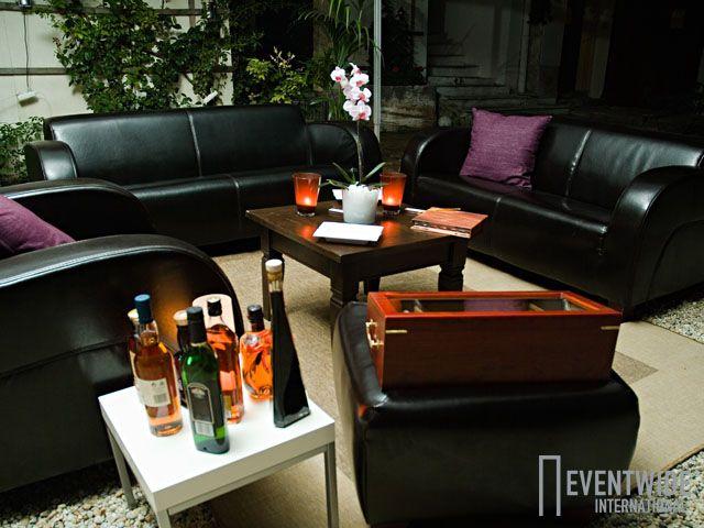 #Eventwide, #Mietmöbel, Lounge Cuba dunkelbraun