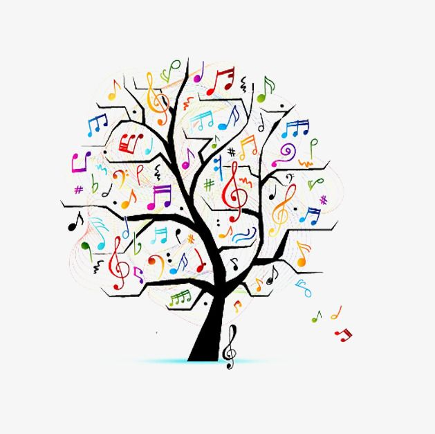 free to pull creative music tree image, music clipart, tree clipart, simple  decoration pictures png and vector with transparent background for free  download | music tree, music clipart, musical art  pinterest
