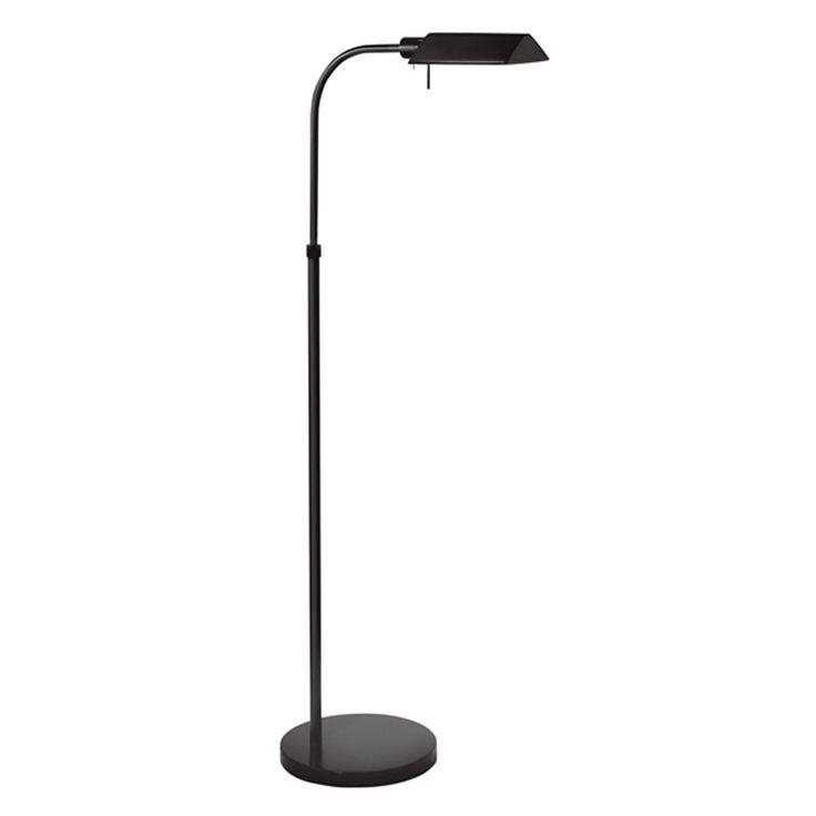 Tenda Pharmacy Satin Black Adjustable Floor Lamp Sonneman Armchair/Task Floor Lamps Lamps