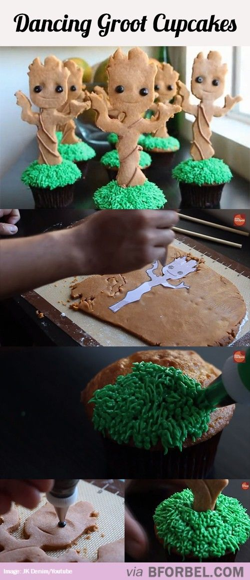 I Am Groot Cupcakes…
