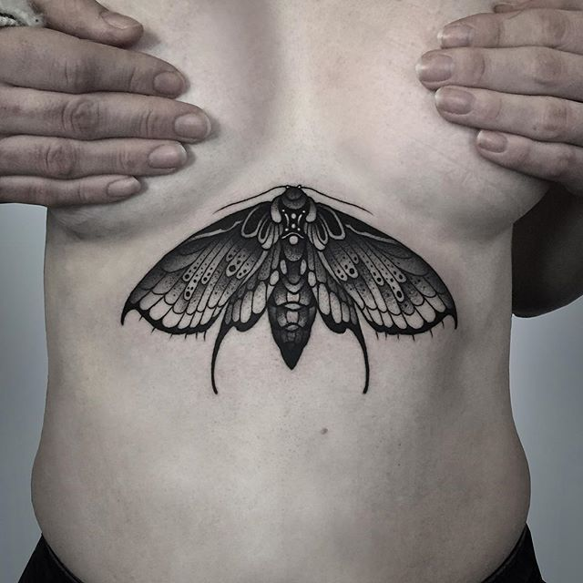 Moth sternum piece on Alice. Thankyou!