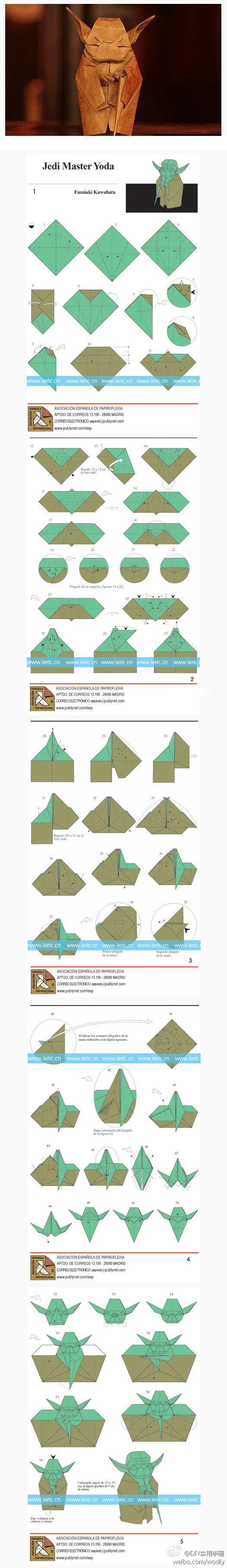 master yoda origami                                                                                                                                                      Más