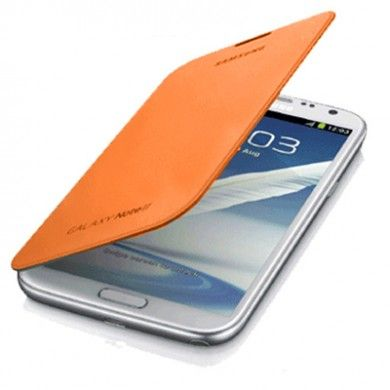 Estuche Samsung Galaxy Note 2 Original Flip Cover - Naranja