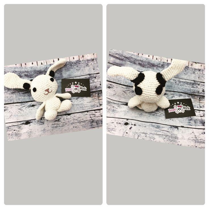 #Hase mit Cochlea implantat #amigurumi #schnuffel #hase #rabbit #brave #staystrong #baby #kind #kid #glückbringer #geschenk #liebe #madewithlove