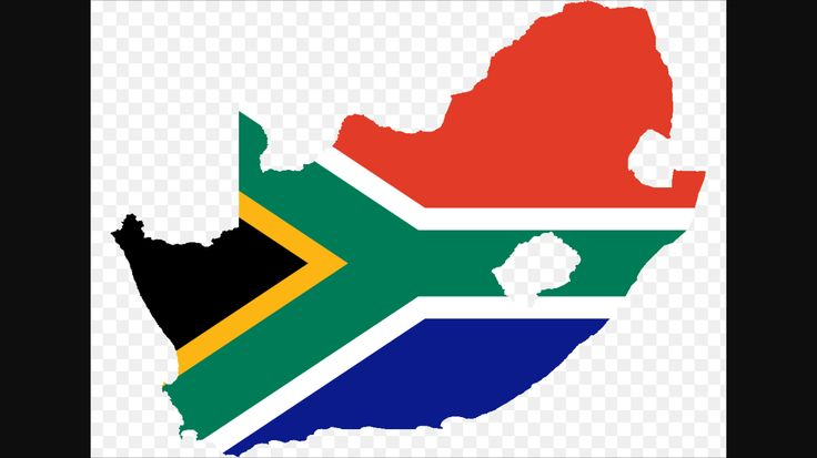 This is the very famous South African flag. The flag has a Y looking figure on it. The figure symbolizes unity - all the races and religions of South Africa coming together. The colors of the flag are very diverse. The red, white, and blue aspects of the flag come from the Boer Republics. The green, yellow, and black aspects come from the African National Congress. The flag highlights many religions, races, ethnic groups joining as one.