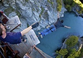 Kawarau Bridge Bungy Jump. The AJ Hackett bungy jump from the Kawarau Bridge is the world's first commercial bungy jump and perhaps the most notorious.