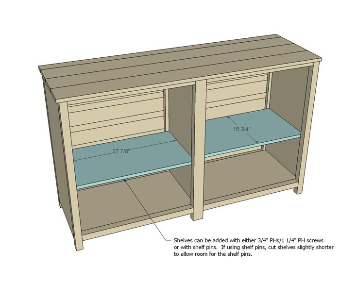 Ana White | Build a Printer's Console | Free and Easy DIY Project and Furniture Plans