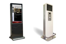 Custom Kiosks.    Provide added value and personalized concierge services on your property without incurring the cost of additional staff with the MetroClick Interactive Kiosk. You'll be assured that your customers receive consistent service, while they remember the unique offerings of this amenity.   Optional built-in features include: credit card processing, printing capabilities, unique QR codes, speakers, and built-in cameras.